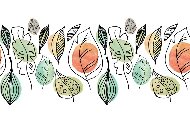 A seamless pattern with abstract leaves inspired by nature example