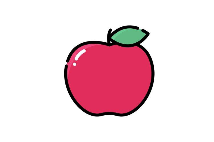 Apple icon, logo vector, flat design example image 1