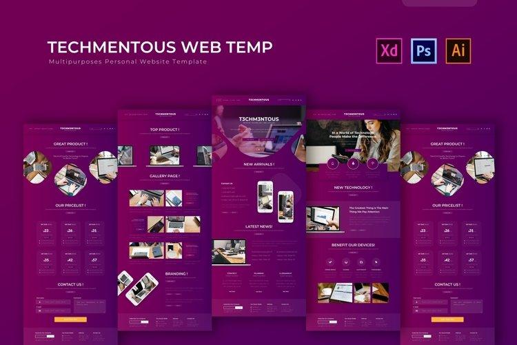 Techmentous | Web Template example image 1