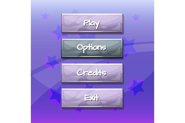 Vector cartoon style wavy enabled and disabled buttons example image 1