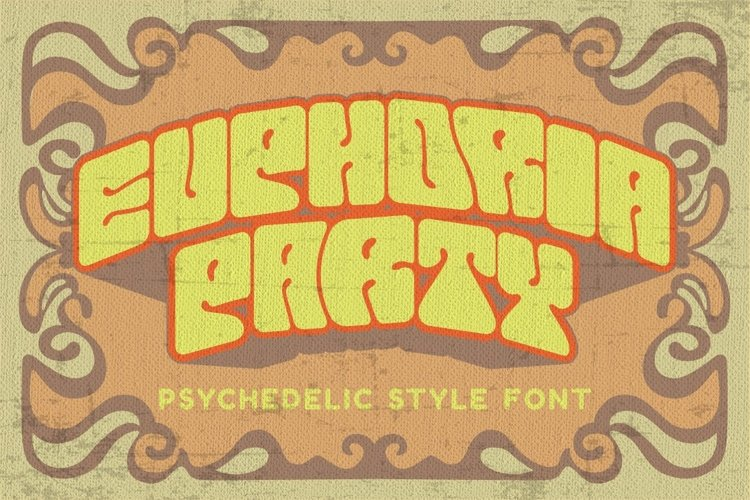 Euphoria Party - Psychedelic Style Font example image 1