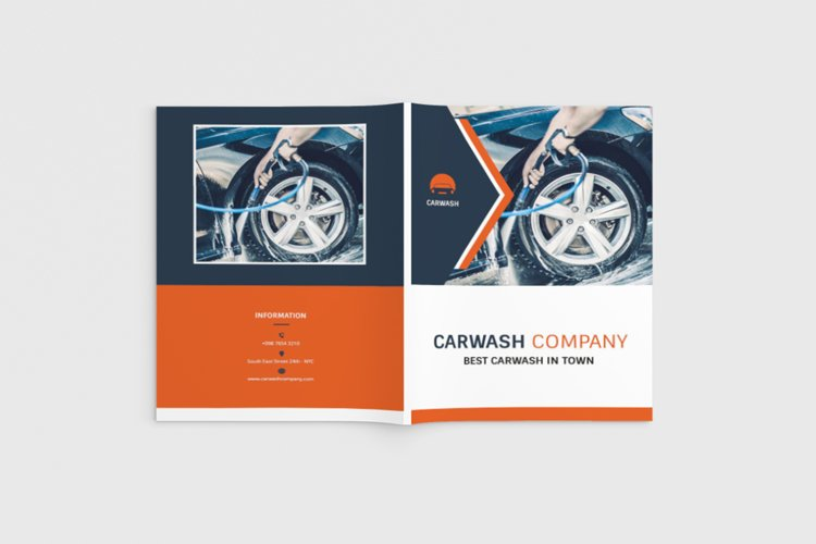 Autowash - A4 Car Wash Brochure Template example image 1