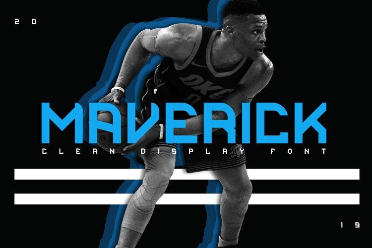 Maverick Clean Display Font example image 1