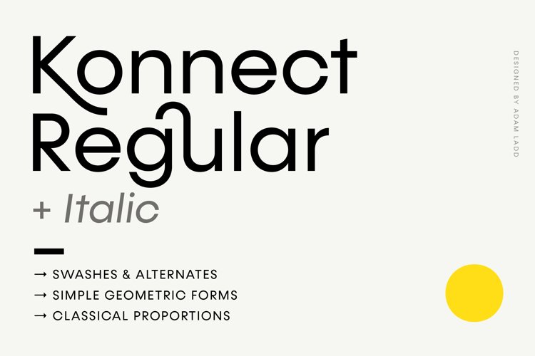 Konnect Regular & Italic Fonts example image 1