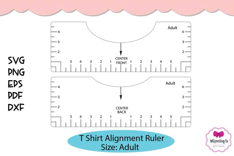 T Shirt Placement Ruler|T Shirt Ruler SVG|T Shirt Alignment example image 1