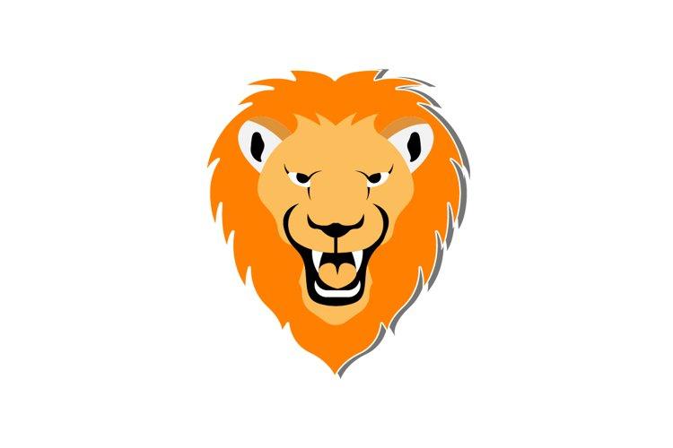 Lion head, vector illustration example image 1