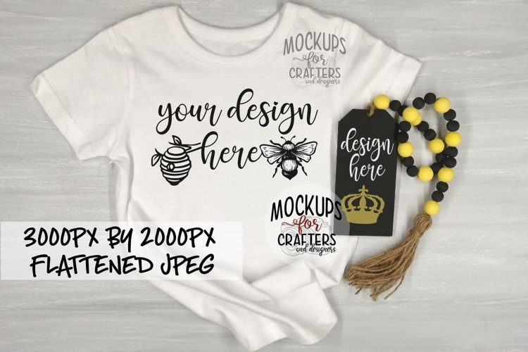 T-Shirt AND Bead Garland with TAG, Bee theme example image 1