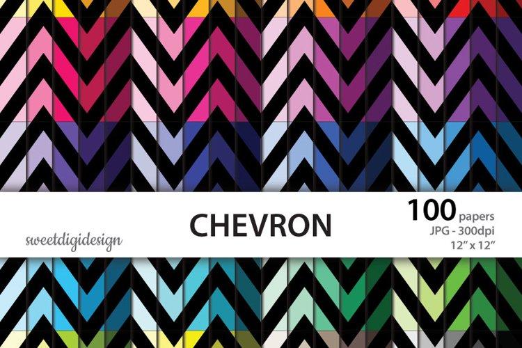 Color chevron digital paper