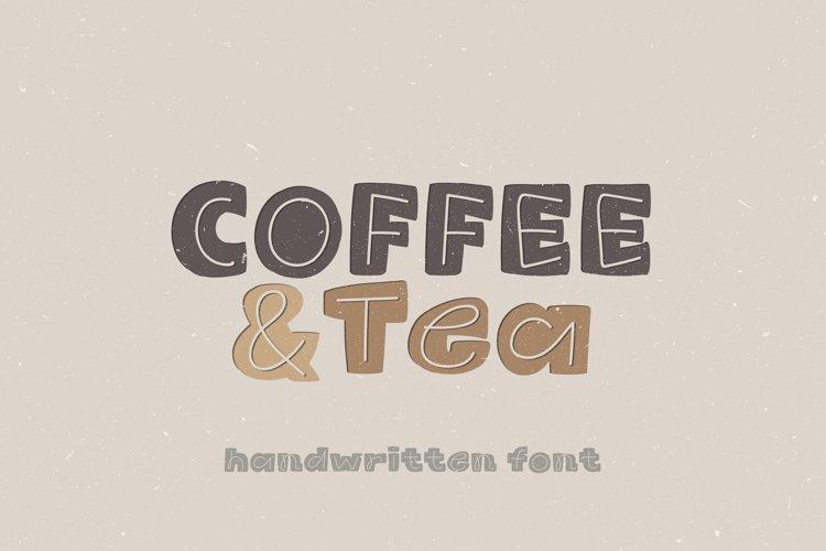 Coffee & Tea - A Cute Handwritten Display Font example image 1