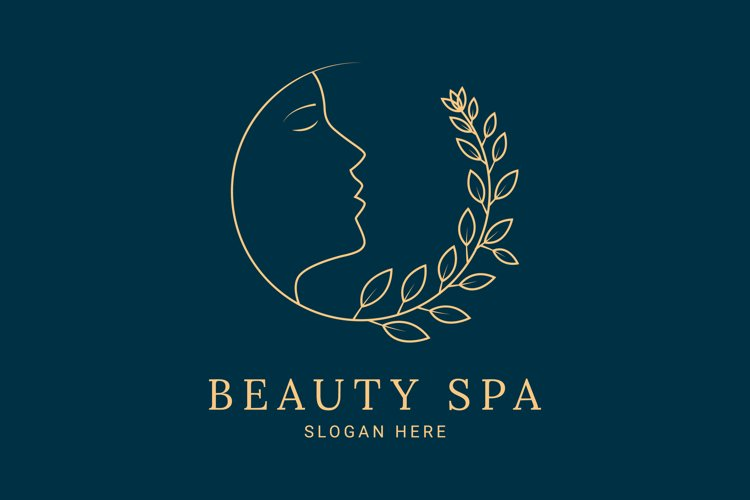 luxurious beauty flower logo