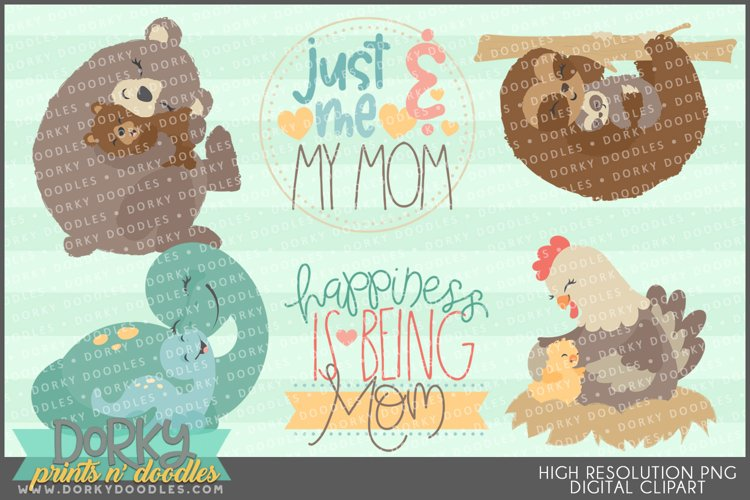 Moms and Babies Clipart