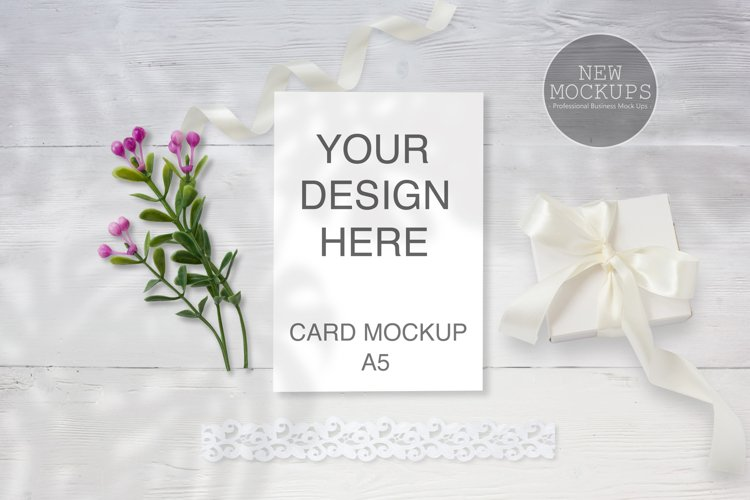 A5 Wedding Invitation Mockup, Card Mockup, digital download
