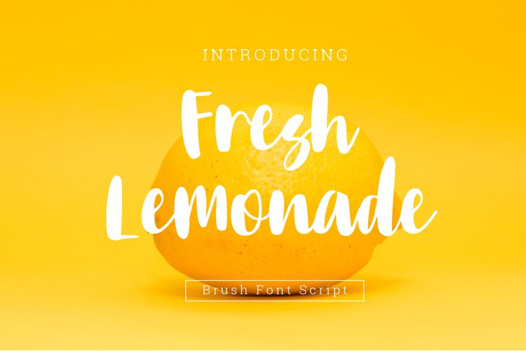 Fresh Lemonade brush font example image 1