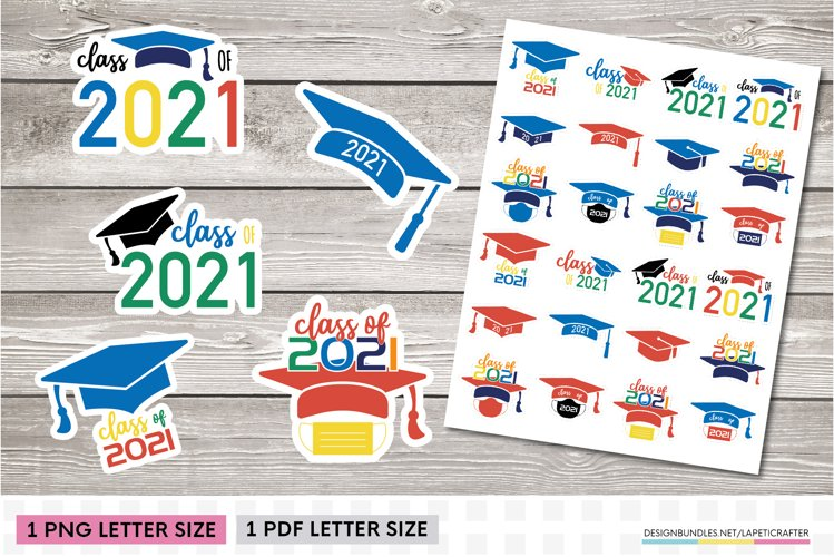 Graduation stickers | Class of 2021 graduation PNG stickers example image 1