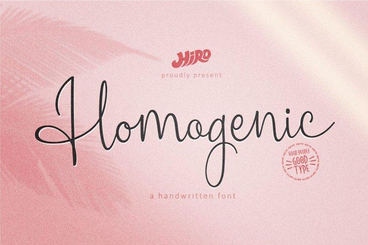 Homogenic Font example image 1