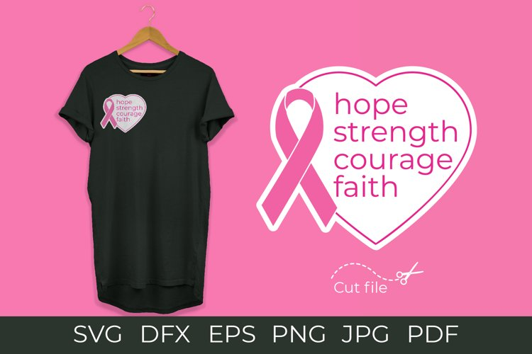 Breast Cancer Awareness. Pink ribbon svg example image 1