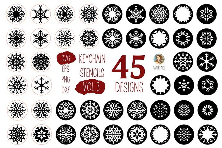 Snowflakes Keychain bundle for keychain DIY custom design