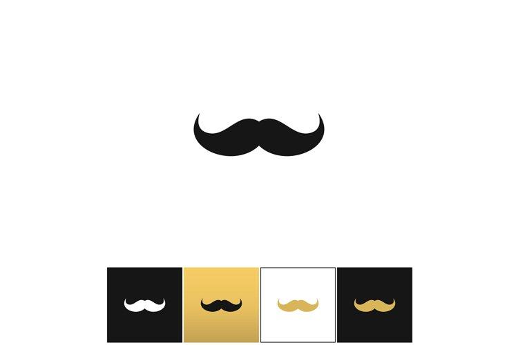Curly mustache 70s retro man vector icon example image 1