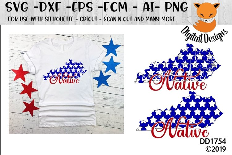 Kentucky Patriotic Stars Pattern SVG