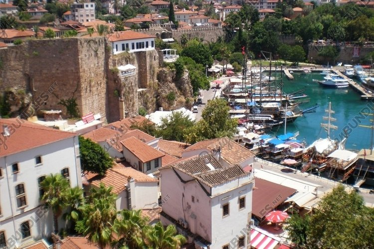 Panorama of the old city of Antalya example image 1