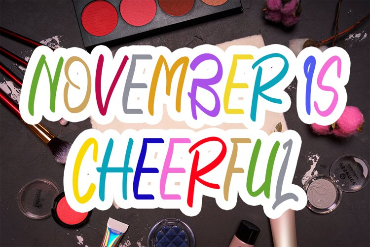 November Is Cheerful example image 1