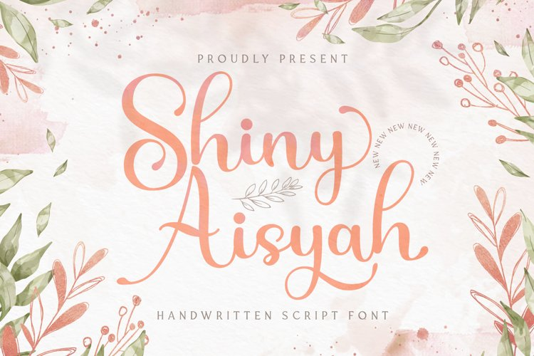 Shiny Aisyah - Handwritten Font example image 1