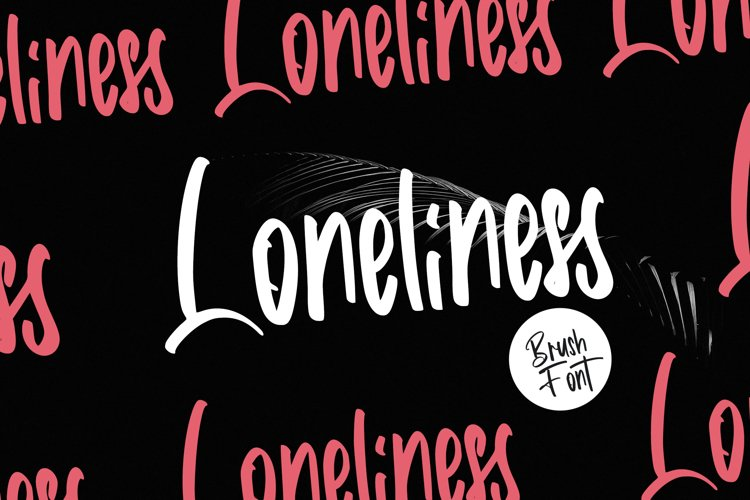 Loneliness   Brush Font example image 1