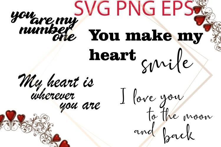 Valentines SVG, Love Phrases SVG example image 1