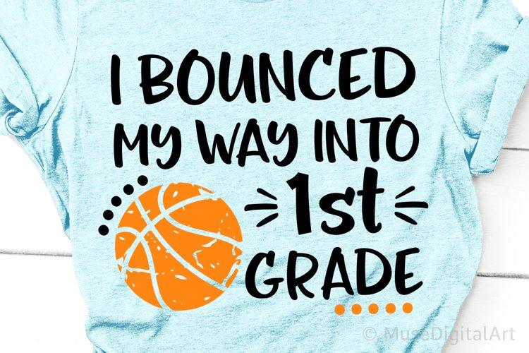 Boy 1st Grade Svg, Back to School First Grade Svg Basketball example image 1