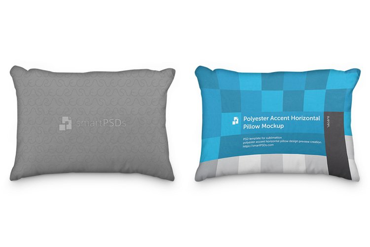 Polyester Accent Pillow Cover Design Preveiw Mockup example image 1