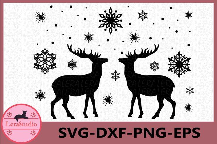 Deer Svg, Deer Winter Svg, Deer Silhouettes SVG, Deer Print