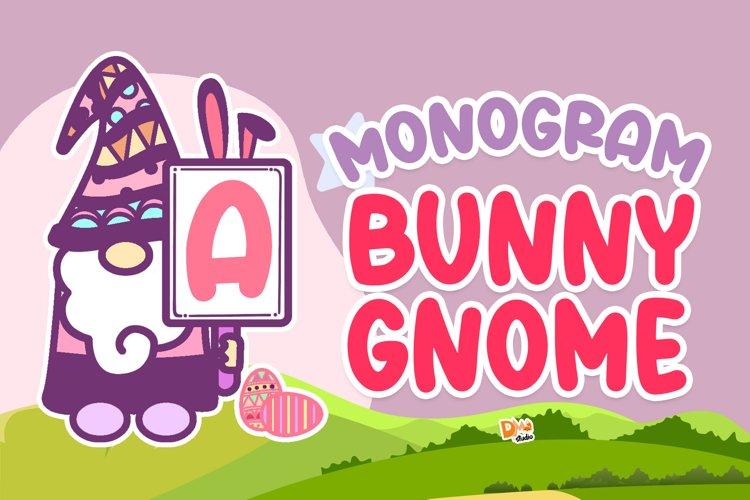 Monogram Bunny Gnome example image 1