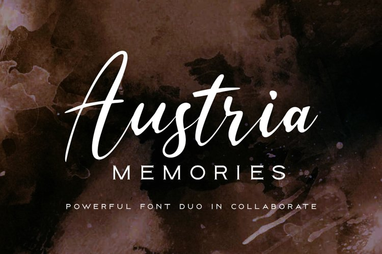 Austria Memories Font Duo example image 1