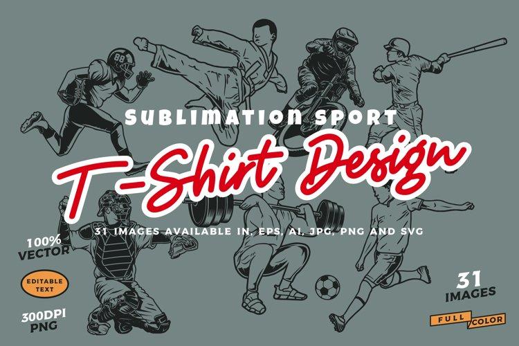 31 Sublimation sport t-shirt design example image 1