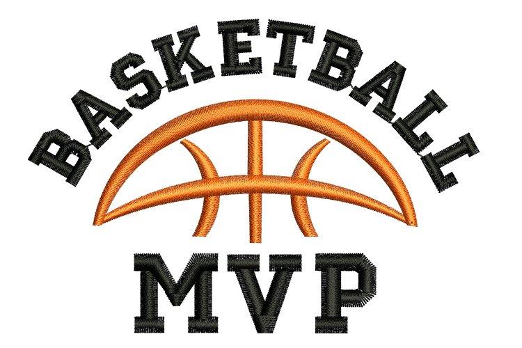 Basketball MVP machine embroidery designs