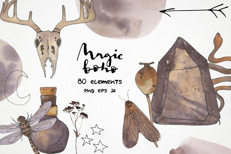 watercolor boho clipart practical magic clip art png