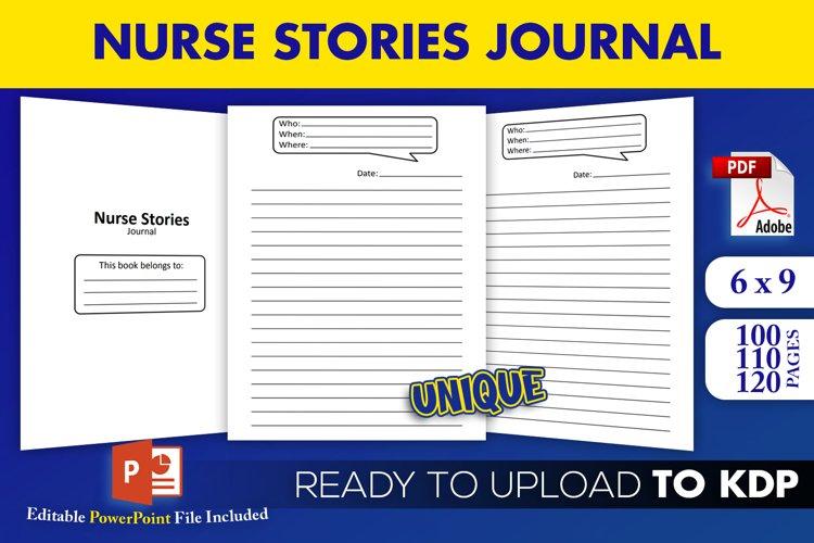 Nurse Stories Journal KDP Interior Editable Pptx Template example image 1