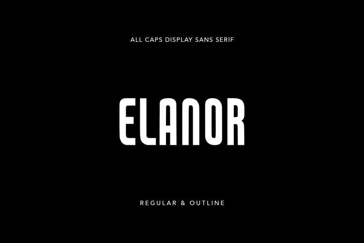 Elanor Display Sans Serif Regular Outline Font example image 1