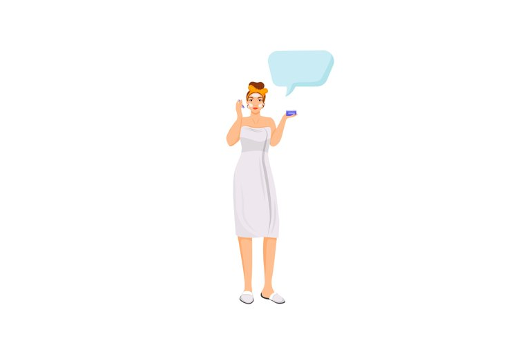 Skincare flat color vector faceless character example image 1