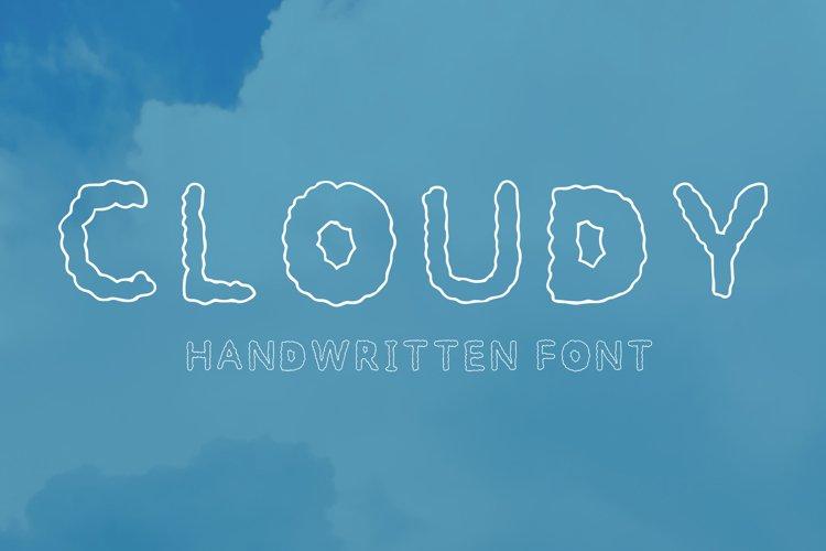 Cloudy handwritten font