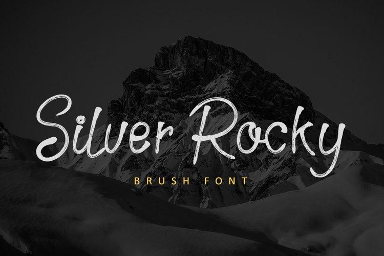 Silver Rocky - Brush Font