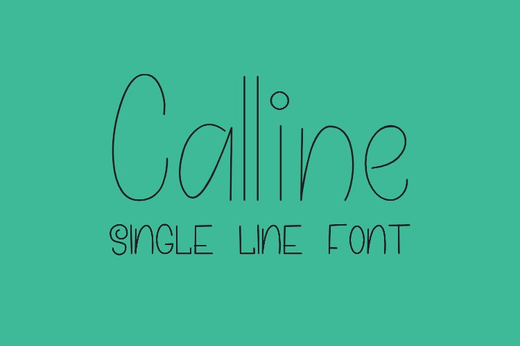 Calline - Single Line - Hair Line Font example image 1
