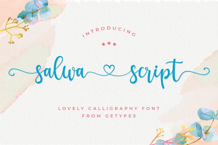 Salwa Script | a lovely font example image 1