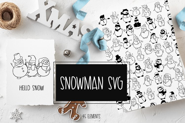 Snowman SVG example image 1