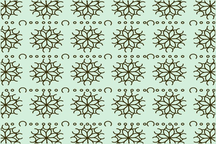 Flower line pattern example image 1