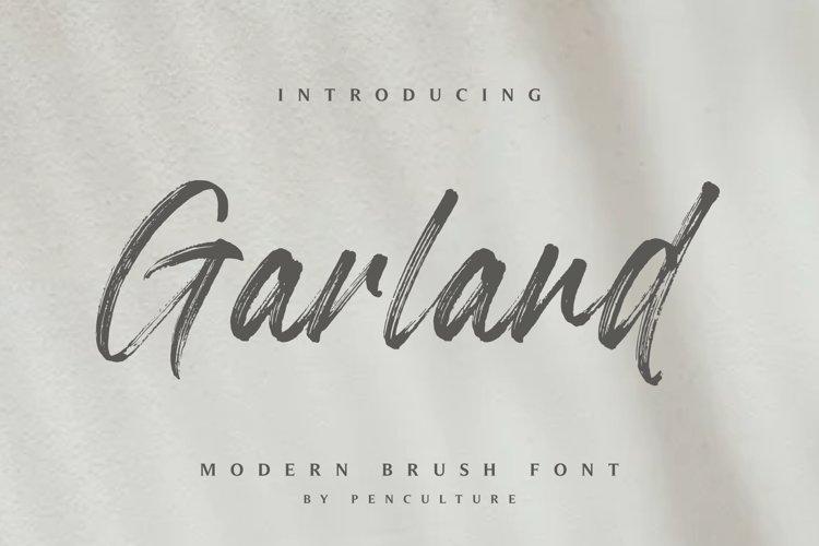 Garland - Modern Brush Font example image 1