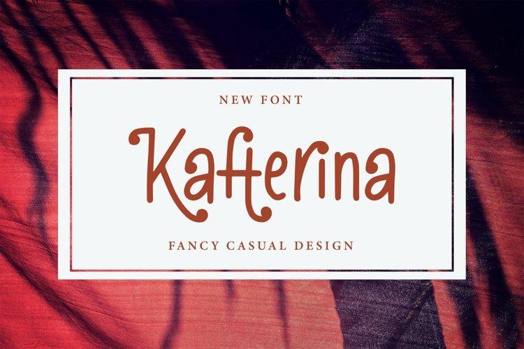 Web Font Kafterina - Fancy Casual Fonts