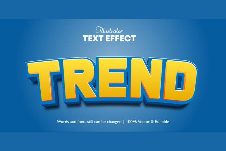 Trend Editable Illustrator 3d Text effect
