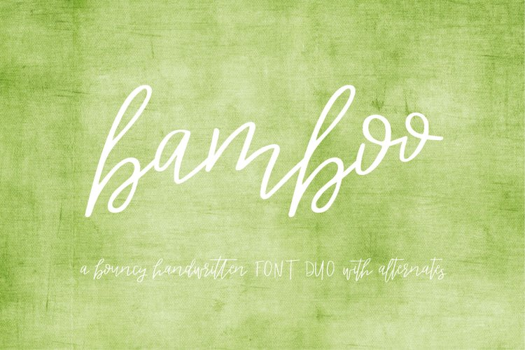 Bamboo Duo Font example image 1