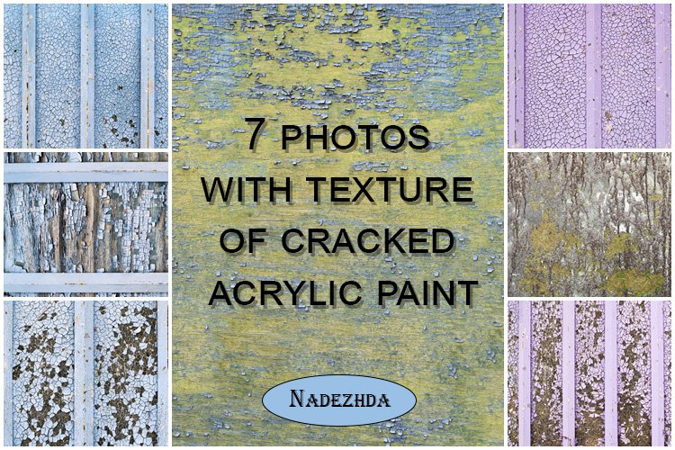 Cracked acrylic paint texture example image 1